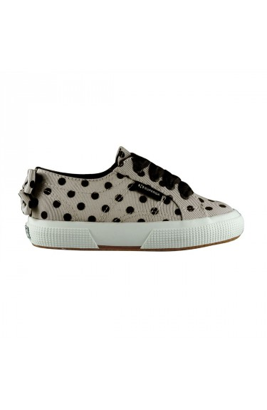 2750 BUMP Dots  Beige/Black dots with bow